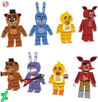 the original gang papercraft (400 watchers) by Adogopaper