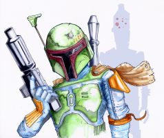 Boba Fett Illustration by Pencilbags