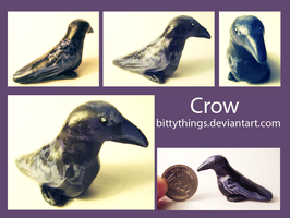 Fat little crow - Gift by Bittythings