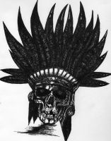 The Apache Cheif Skull by TheCultLeader