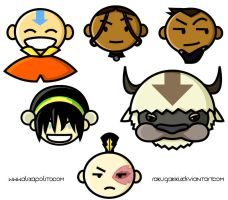 Avatar Sticker Faces by rakugakikiss