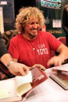 Sammy Hagar Signing His Book by basseca