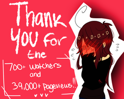 Thank for the 39,000+ pageviews and 700+ watchers! by Natsuki12