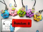 Colorful Swirly Cuties Phone Straps by efeeha