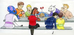 Wraiths at breakfast by crawdadEmily
