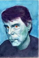 Stephen King watercolor by thewalkingman