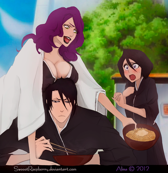 Byakuya and Rukia in the Gaton Den palace xD (521) by SweeetRazzbery
