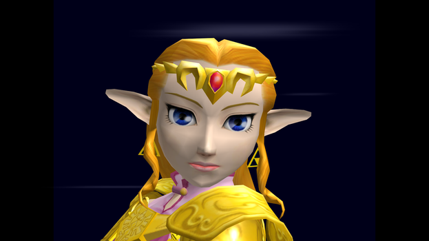 Zelda (Smash) Trophy Closeup SSBM 4 by SuperMario811