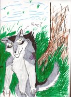 Adopted werewolf with bad bg by dargon899