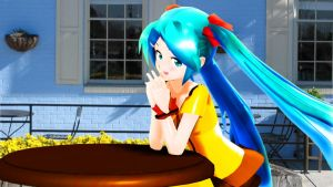Waiting for you_Hatsune Miku MMD PV Dandelion by aki-2012-miku