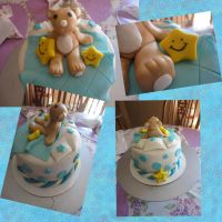 teddy bear cake by panda-odono