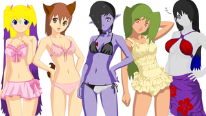 Oc Swimming Party by Niome-Hitori