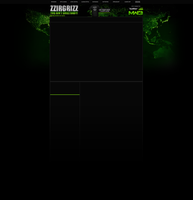 zzirGrizz YouTube layout - MW3 Style by JSWoodhams