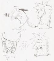 Angry Beavers Sketches by elixirXsczjX13