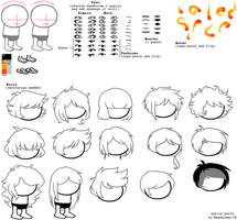 Head stuff sprite sheet by Magdaleen-96
