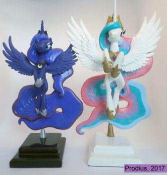 Celestia and Luna by StrayC70