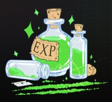 URealms Live T-Shirt Design: E.X.P. by Pandas-R-Us