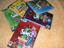 my sims2 collection by Fatmalovestodraw