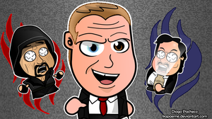 Korporate Kane - WWE Chibi Wallpaper by kapaeme