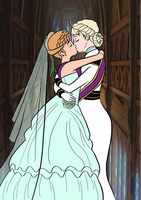 Elsanna wedding drawing 17 by Arendellecitizen