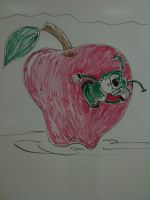 Apple Eraser Board Drawing by originalwillow