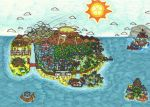 The Ester Isles - Paper Mario: BOE - World Map by ProtoTypedKnife