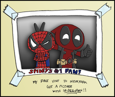 Deadpool and Spider-man by tangledinthread
