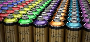 spray cans by simjoy