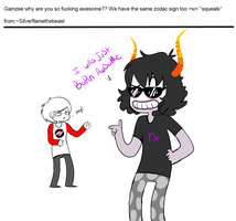 Ask from ~Silverflamethebeast by askGAMZEE-MAKARA-ask