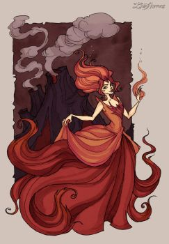 Flame Princess by IrenHorrors