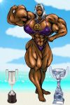 MUSCLE82002 - Tha Lady Urd w/ her Beach Trophies by KeirTanaka