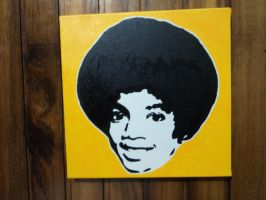 Michael Stencil Painting Pop Art by claroscuro1