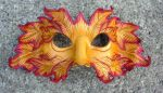 Autumn Green Man Leather Mask by merimask