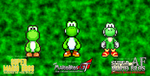 Different Yoshi sprites in Three Different Series by TuffTony