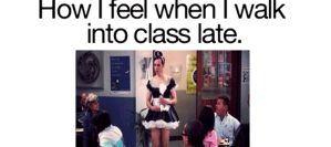when i show up late to my class by PandahHero