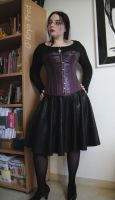 Fake leather skirt by MaxOKryn