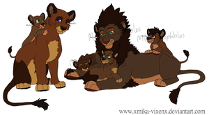 Lion Family Adoptables CLOSED by MikasAdoptables