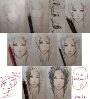 traditional color pencils, step by step by kuro-alichino