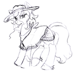 sketch: The Mare With No Name by Honeycrisp1012