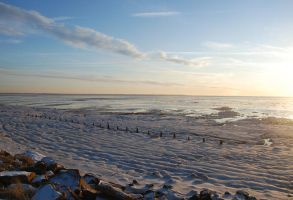 Spurn Point in Winter by moonhare77