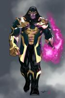 Thanos the mad titan - Absalom7 colors by SpiderGuile