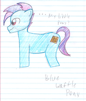 Blu Waffle the Stallion by sqeakii00
