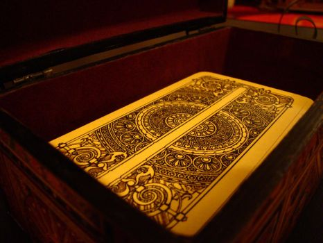 Tarot deck in a box by Theoneknownascrispi