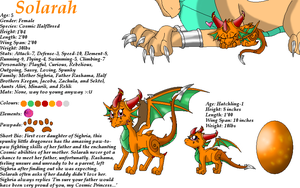 Solarah Ref Sheet by SighriaDragoness12