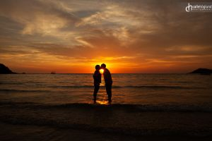 Kissed by sunset by CalleHoglund