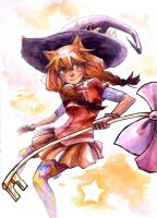 Watercolor Candy Witch by somik