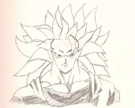 SSJ3 Goku sketch by Jake-Lee