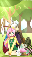 MLP Fluttershy and Discord by Bananaproduction