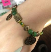 Jade and Coin Bracelet by Arsenious