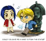 'Passport to Freedom' with George and Nico by crescentvixen